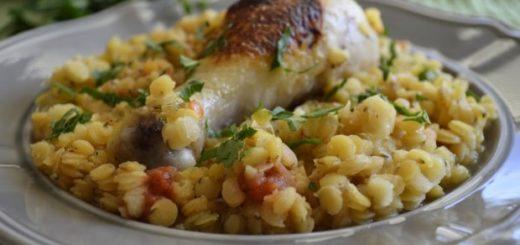 Рецепт курицы с чечевицей