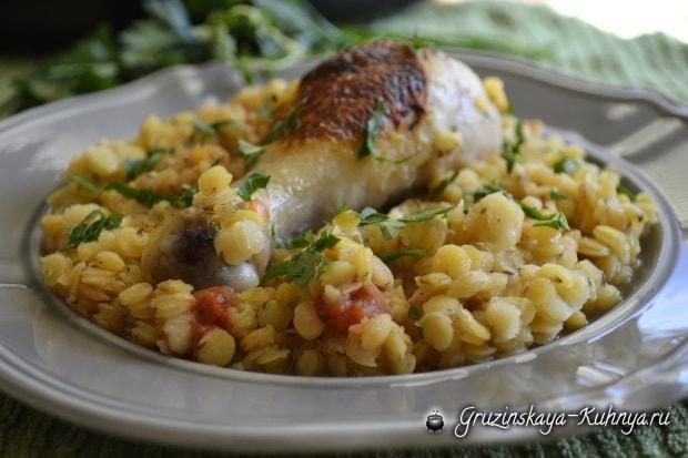 Рецепт курицы с чечевицей (3)
