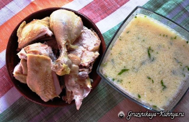 Чихиртма из курицы по-грузински