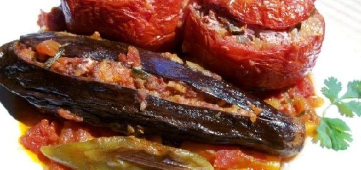 Фаршированные помидоры и баклажаны. Толма по-грузински