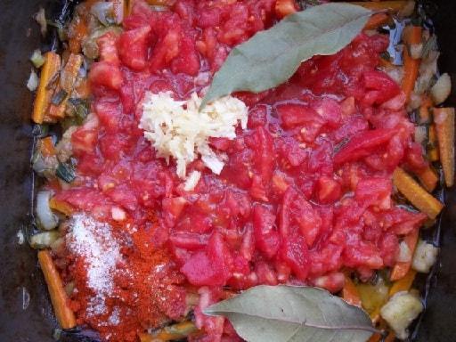 Фаршированные помидоры и баклажаны. Толма по-грузински (4)