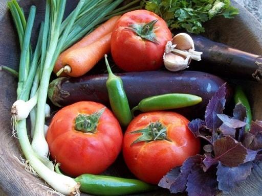 Фаршированные помидоры и баклажаны. Толма по-грузински (6)