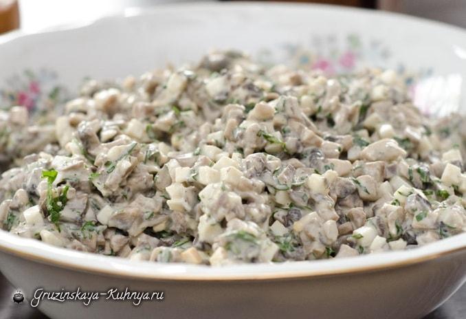 Грибной салат. Кулинарный рецепт (2)