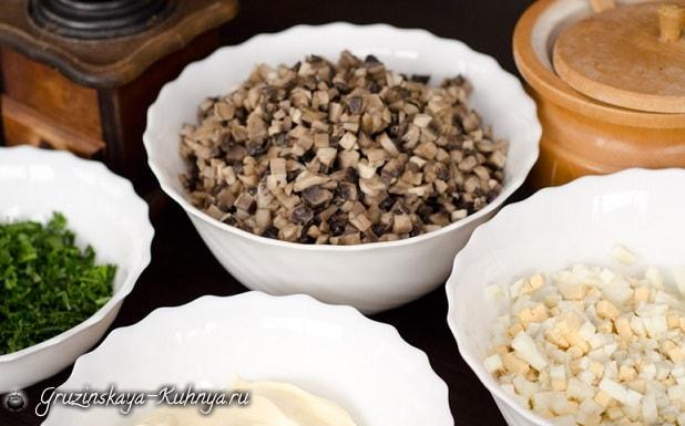 Грибной салат. Кулинарный рецепт (3)