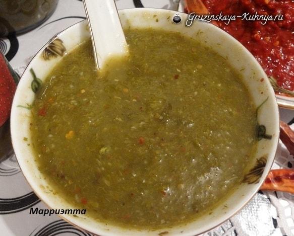 Грузинский соус ТКЕМАЛИ из алычи (2)