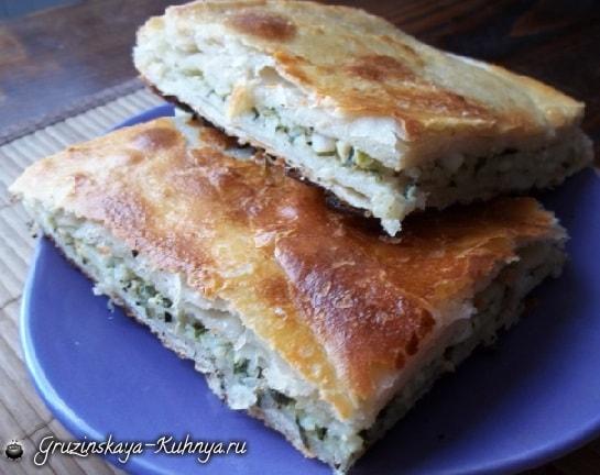 Хачапури с тархуном и рисом. Рецепт (10)