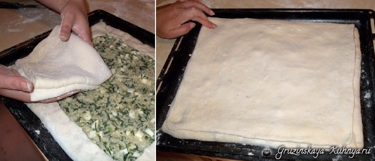 Хачапури с тархуном и рисом. Рецепт (3)