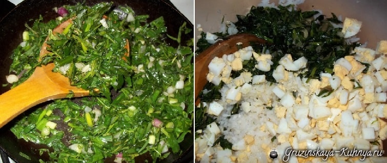 Хачапури с тархуном и рисом. Рецепт (4)