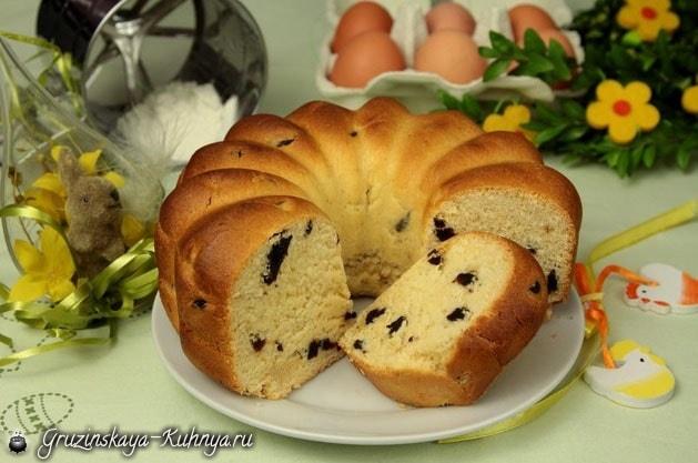 Кекс с черносливом. Рецепт к Пасхе