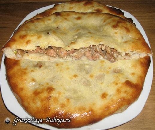 Кубдари - грузинский пирог с мясом (12)