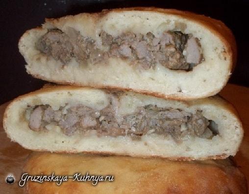 Кубдари - грузинский пирог с мясом (13)