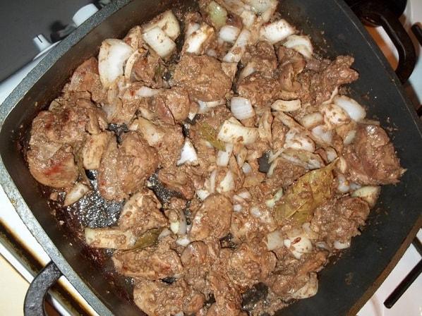 Куриная печень с красным вином и сванской солью (4)