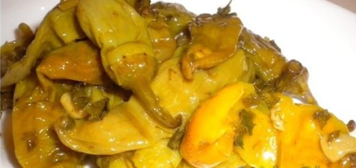 Зеленый перец в масле по-грузински
