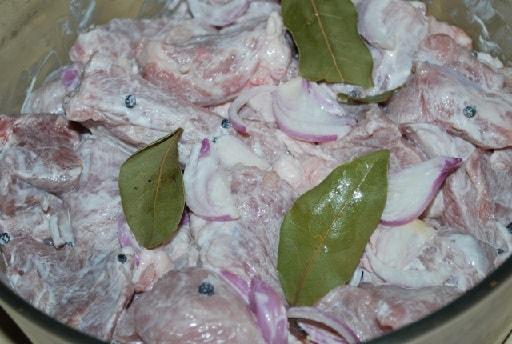 Шашлык из свинины в маринаде из мацони (5)