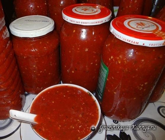 Сацебели - острый соус на уксусе. Заготовка на зиму (2)