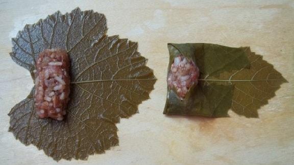 Долма из виноградных листьев по-грузински (7)