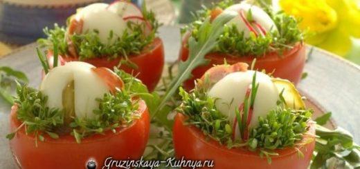 Яйца в гнездах - пасхальная закуска для праздничного стола