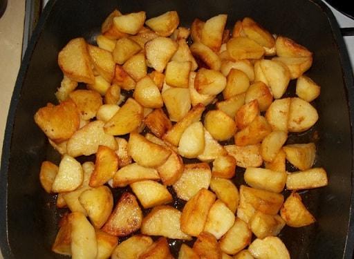 Жареная картошка со сванской солью (2)