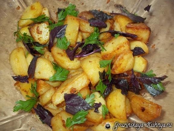 Жареная картошка со сванской солью (3)