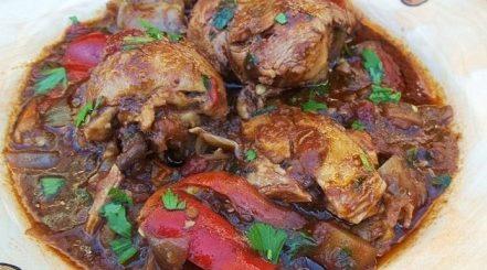 Чахохбили с грецкими орехами по-грузински