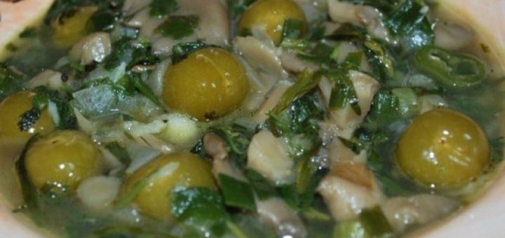 Чакапули из грибов - грузинский рецепт
