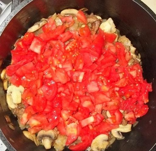 Чашушули из свинины с грибами и аджикой (3)