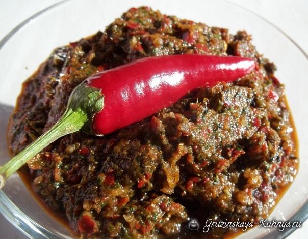 Рецепт горькой мегрельской аджики (8)