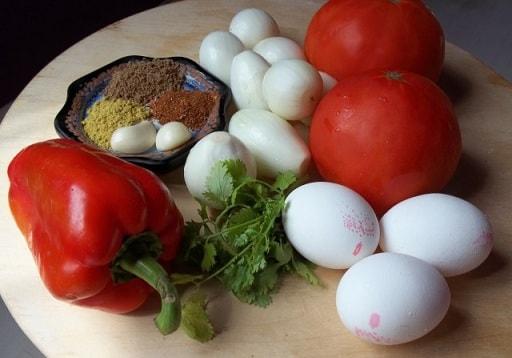 Чахохбили из курицы с зеленью и яйцами (8)