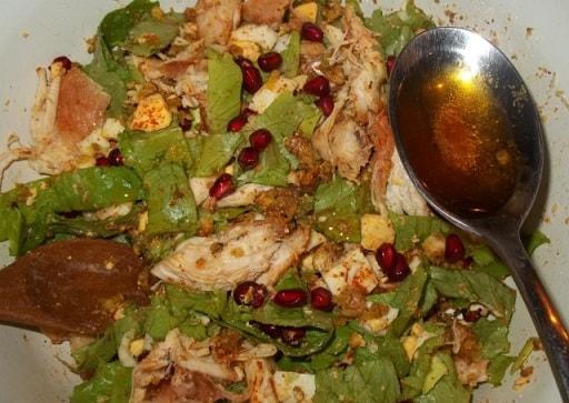 Куриный салат с орехами и гранатом (2)