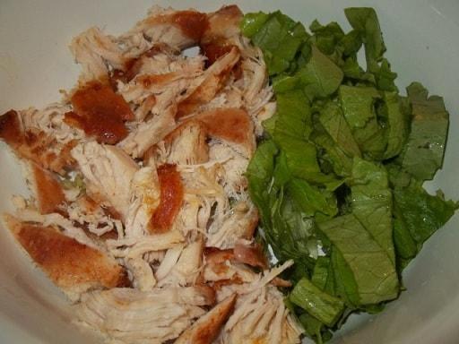 Куриный салат с орехами и гранатом (6)