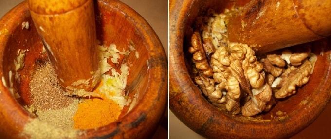 Куриный салат с орехами и гранатом (7)
