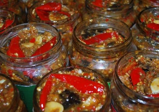 Маринованные баклажаны с красным перцем (11)