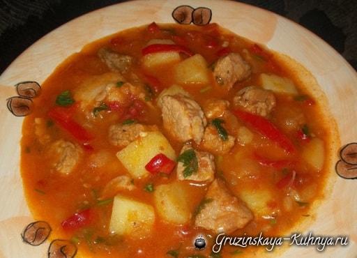 Соус со свининой по-грузински (9)