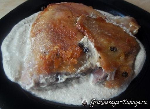 Цыпленок табака с ореховым соусом баже (4)