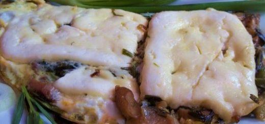 Запеканка из грибов с тархуном и сыром