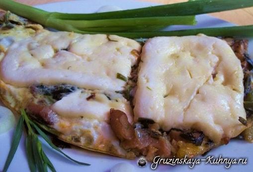 Запеканка из грибов с тархуном и сыром (8)