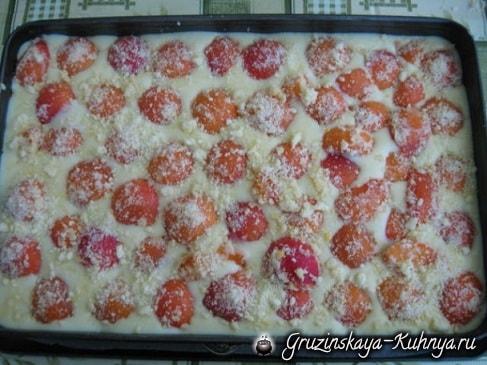 Абрикосовый пирог с заварным кремом (5)
