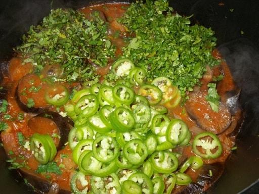 Аджапсандали с картофелем и помидорами