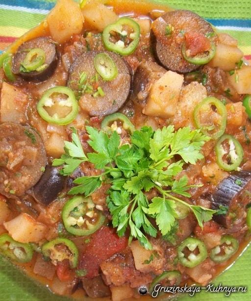 Аджапсандали с картофелем и помидорами (4)