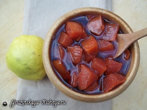 Айвовое варенье. Пошаговый рецепт (7)