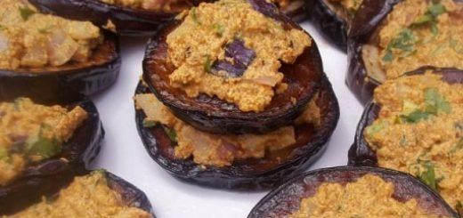 Баклажаны с ореховым соусом из фундука