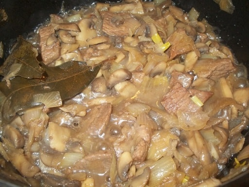 Чашушули из говядины с грибами (2)