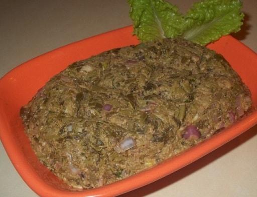 Экала с орехами. Грузинский рецепт (7)