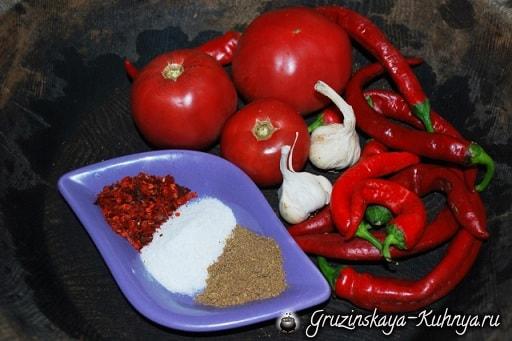 Грузинский острый томатный соус. Пошаговый рецепт (8)