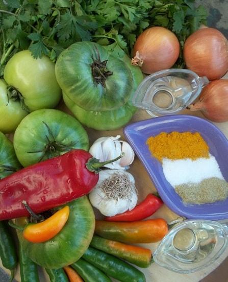 Маринованные зеленые помидоры. Грузинский рецепт (5)