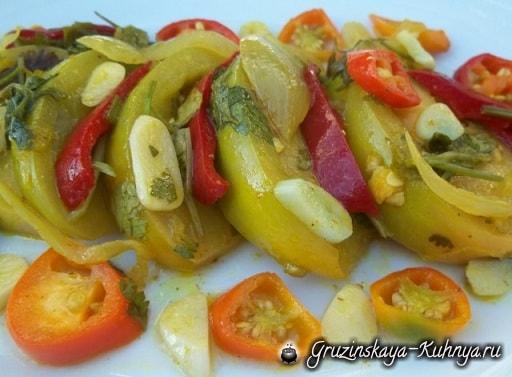 Маринованные зеленые помидоры. Грузинский рецепт (6)