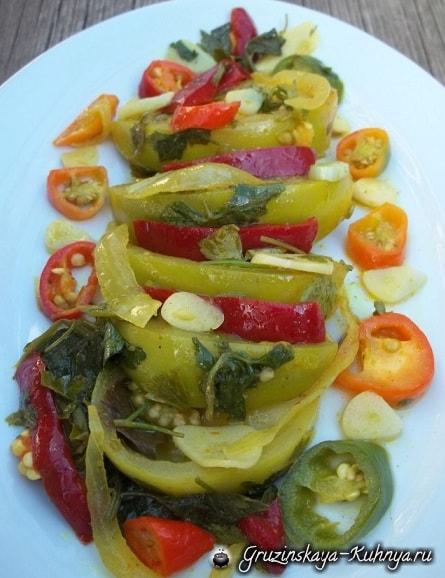 Маринованные зеленые помидоры. Грузинский рецепт (7)
