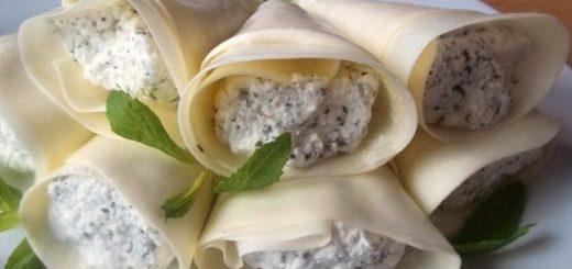 Надуги с мятой в сыре сулугуни. Пошаговый рецепт