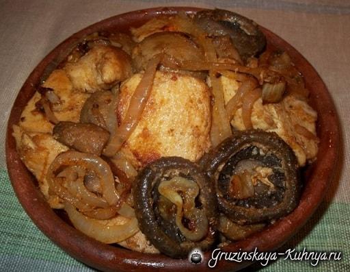 Оджахури из курицы и шампиньонов (6)
