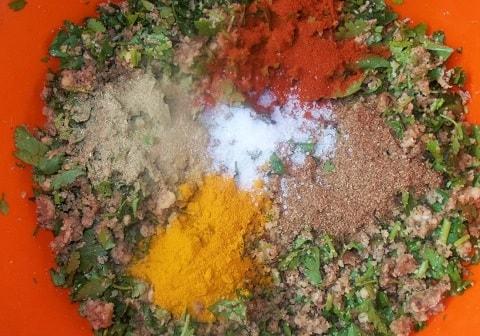 Пхали из лука порея с орехами (2)